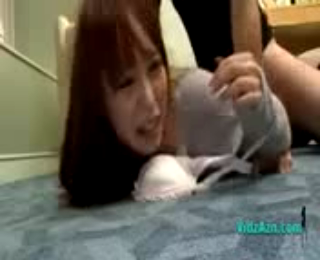 Asian Girl In Jumper Fucked Cum To Boots On The Carpet In The Hotel