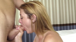 Halarys First Facial Cumshot On Camera