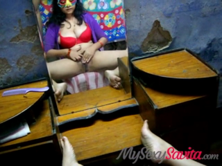 desi Shavita Bhabhi Masterbating in frnt of mirror