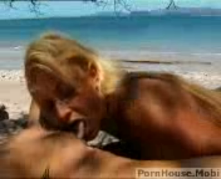 Two Young Hot And Horny Lesbians Fucks A Guy At Horny Beach