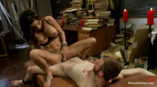 Big Boobs Babe Gives A Prostate Milking With Tight Pussy