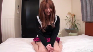AV Model Yuna riding a stiff cock cowgirl style