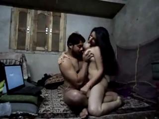 desi College couple enjoying in Hotel room
